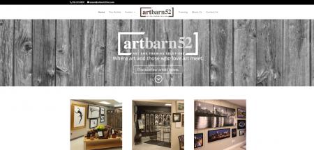 ArtBarn 52 Web Design Blue Studio62