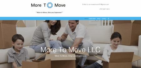 More To Move Web Design Blue Studio62 Screenshot Image