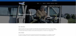 Secure Comfort Care Web Design Blue Studio62